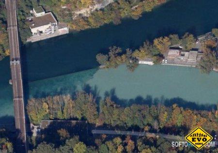 Слияние двух рек (Швейцария) - интресные фото