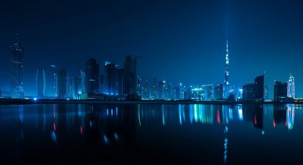 Красота ночного Дубая / фото Sebastian Opitz (2012)