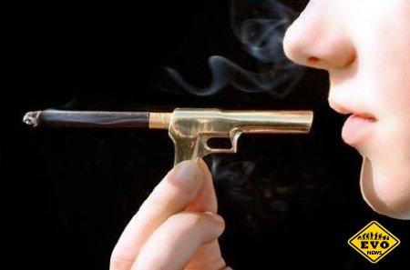 Курите на здоровье! (Вред сигареты в картинках)