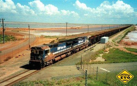Самый длинный железнодорожный состав в мире - 7,3 км