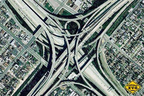 Дорожные развязки в США - интересные картинки