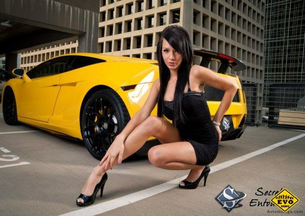 Красивые девушки и автомобили в картинках (2012)