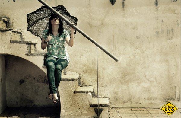 Зонт 21 века - интересное изобретение 2012