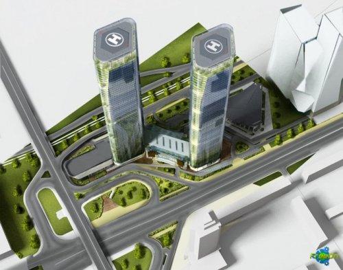 В Киеве появятся две башни-близнецы Victory Towers