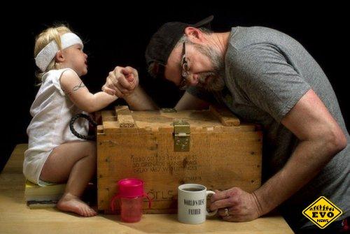 Прикольные картинки Лучший Отец от фотографа Дэйва Энгледоу