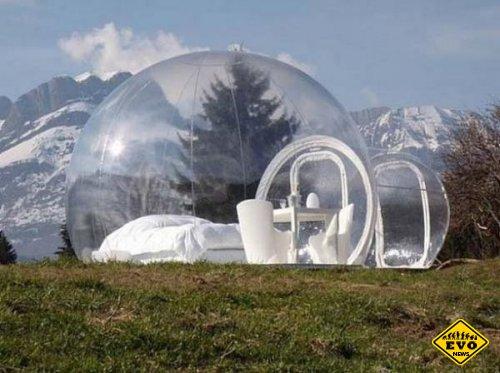 Дом-пузырь предназначен для уединения и отдыха