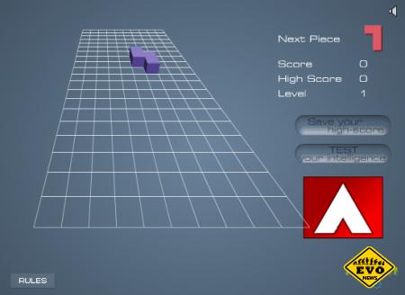 Flash3DX - старый добрый тетирис онлайн игра