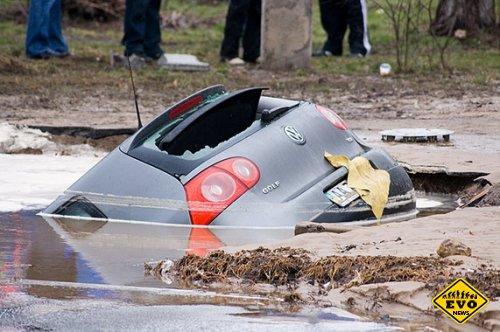 Volkswagen ушел под воду (Видео отчет)