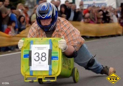 Двукратным чемпионом Европы по гонкам на мусорных баках