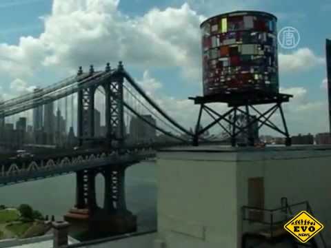 Разноцветная башня из стекла в нью-йоркских окрестностях