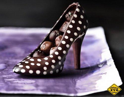 Романтичные шоколадные туфли для женщин