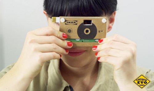 Картонный фотоаппарат приурочен к появлению новой мебели