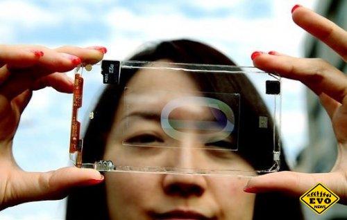 В продаже может появиться прозрачный смартфон