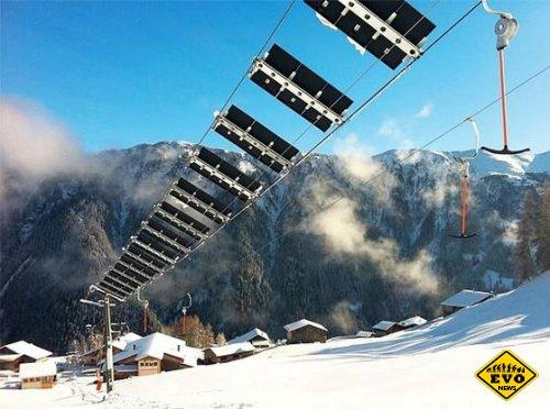 Канатный подъёмник для горнолыжников стал электростанцией