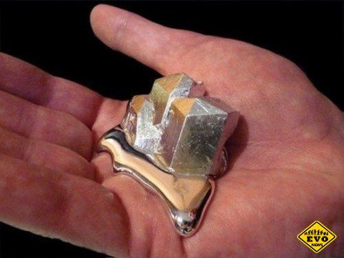 Гaллий - металл, который плавится на ладони (Факт)