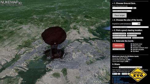 В Google появился 3D-симулятор взрыва атомной бомбы