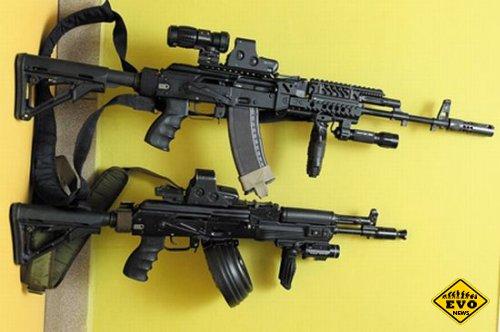 АК-74М с различными вариантами «обвеса»