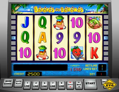 Игровой автомат Бананы, перенесёт всех игроков казино на Багамы