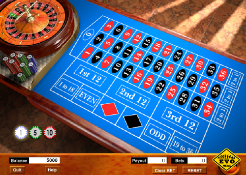 Европейская рулетка (Азартная флеш игра)