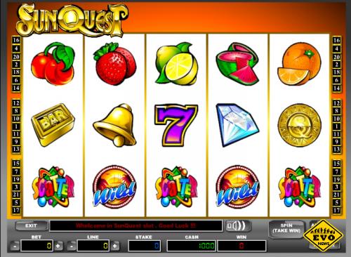 Игровой автомат SunQuest (Солнечный Квест)