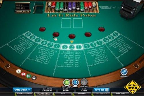 Покер Let it Ride - азартная флеш игра онлайн