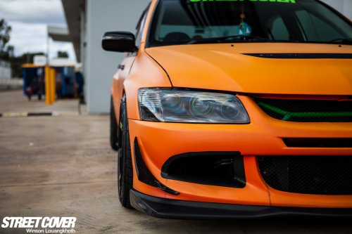 Mitsubishi Evo VII - SHAUN'S ORANGE NUGGET