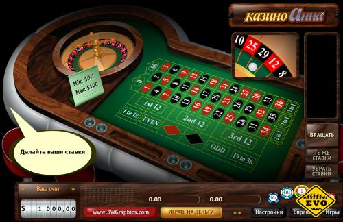 Игра онлайн рулетка