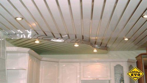 Обустройство потолка из пластиковых панелей