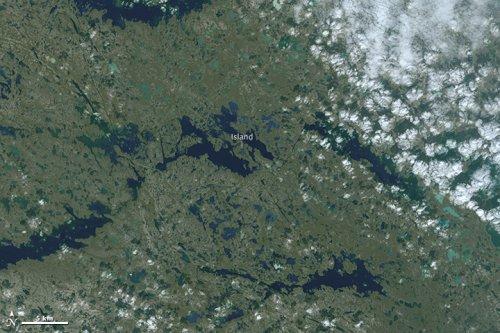 Найбольший остров в озере на острове в озере на острове