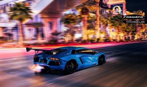 Liberty Walk Lamborghini Aventador - в японском стиле