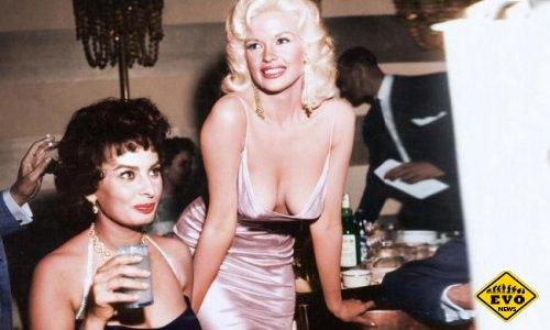 Софи Лорен и Джейн Мэнсфилд, 1957 год (уникальное фото)