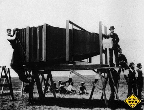 Первый в мире телеобъектив, 1900 год (фотография)