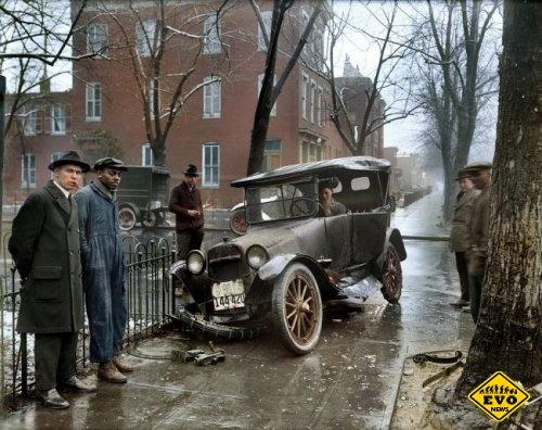 Авария в Вашингтоне, 1921 год (историческое фото)