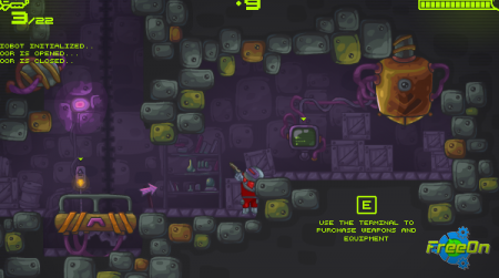 Zombotron - очередная флеш игра онлайн (Бродилка)