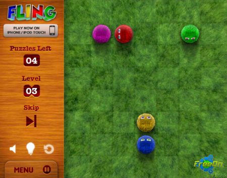 Fling - Выбиваем всех пушистиков (Флеш игра онлайн)
