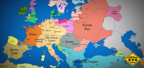 11 веков истории Европы за 3 минуты c 1000-2013 гг