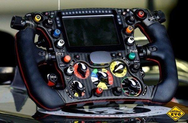 Предназначение кнопок на гоночном руле Sauber C33