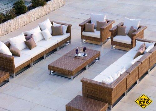 Какой материал нужно выбрать для мебели на патио