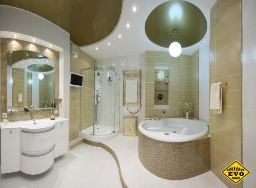 Выбор отделки потолка в ванной