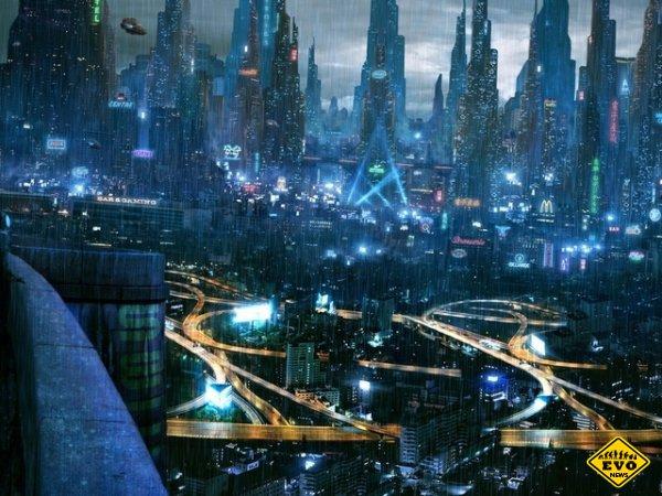 Города будущего - реалистичные работы художников