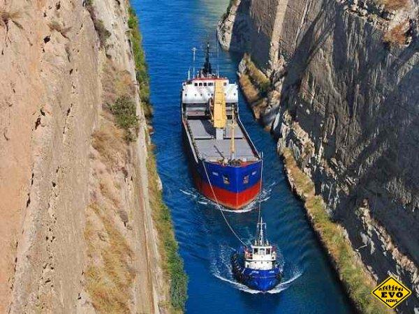 Коринфский канал - водный путь сквозь материк