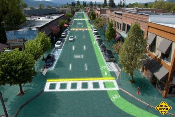 Solar Roadways - дорожное полотно из солнечных панелей