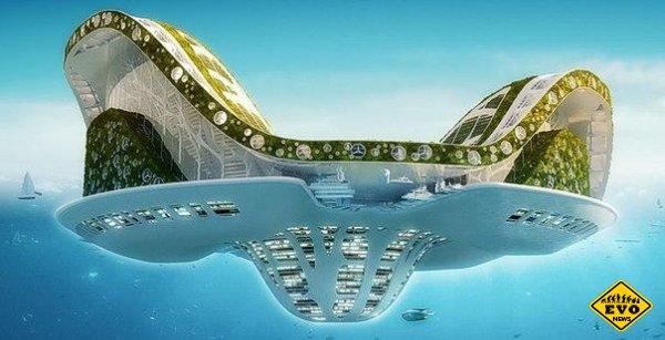 В 2020-м году должен появится первый плавучий город Лилипад (Lilypad)