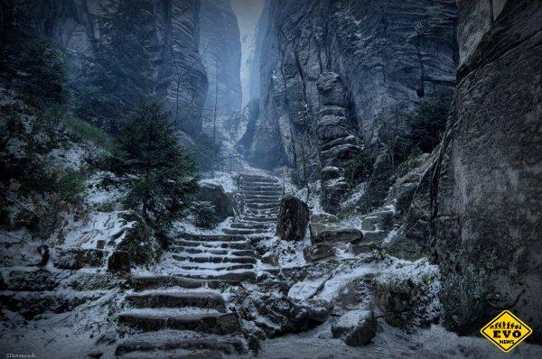 Праховы Скалы - очень схожи на пейзажи Skyrim