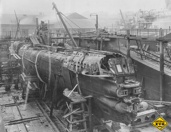 Немецкая подводная лодка времён первой мировой войны