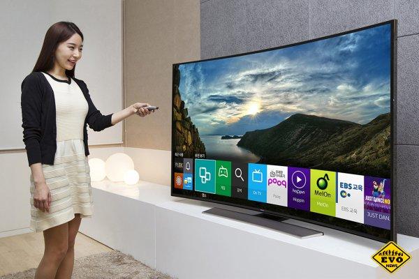 Первый в мире безрамочный изогнутый телевизор SUHD TV