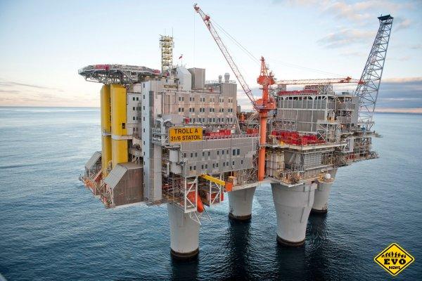 TROLL-A  - самая большая в мире газодобывающая платформа