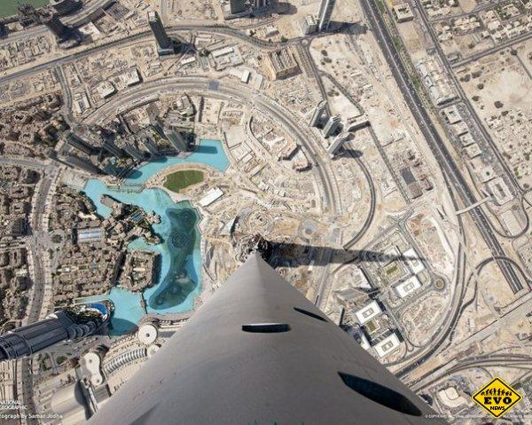 Вид с самого высокого здания мира  — 828 метра