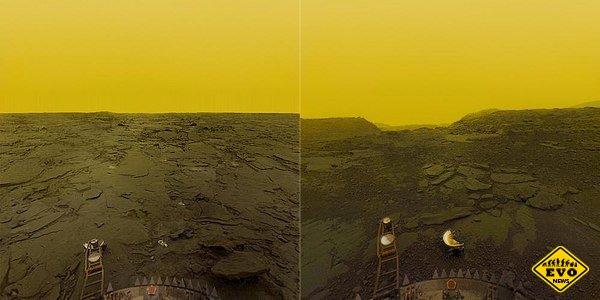 Поверхность Венеры, фото советских зондов в 1981 году