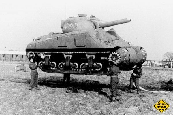 Надувной макет американского танка M4 «Шерман»